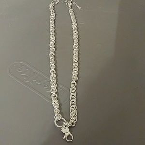 "16-18"" silver chain"
